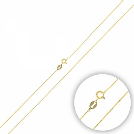 Lant argint 925 tip sarpe placat cu aur galben - LTU0033