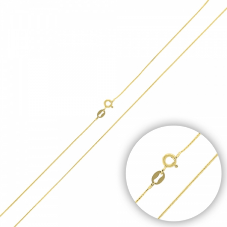 Lant argint 925 tip sarpe placat cu aur galben - LTU0034