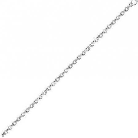 Lant argint cu zale ovale Forzentina 50 cm
