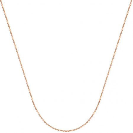 Lant argint Forzentina 60 cm, placat cu aur roz