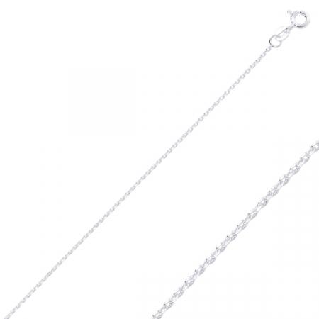 Lant argint Forzentina placat cu rodiu, 55 cm
