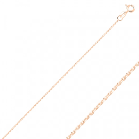 Lant argint placat cu aur roz model Forzentina