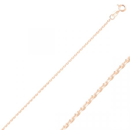 Lant argint placat cu aur roz model Forzentina - Lungime: 55 cm