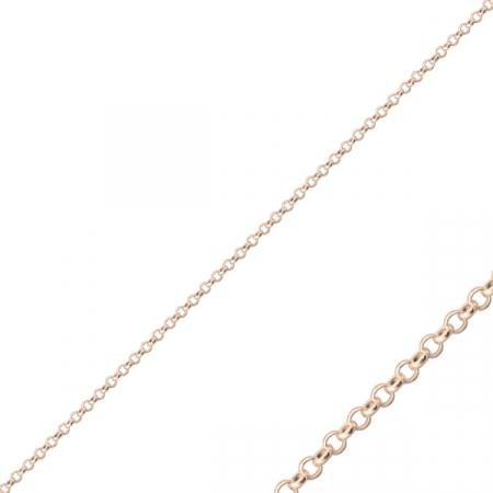 Lant argint placat cu aur roz model Rolo