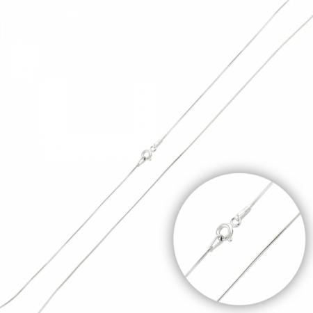 Lant argint sarpe 50 cm placat cu rodiu
