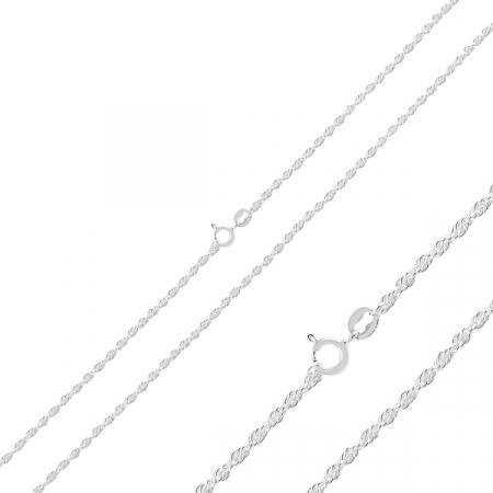 Lant argint tip franghie  60 cm