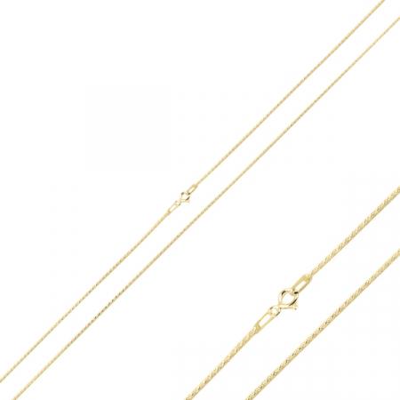 Lant argint tip franghie placat cu aur 50 cm