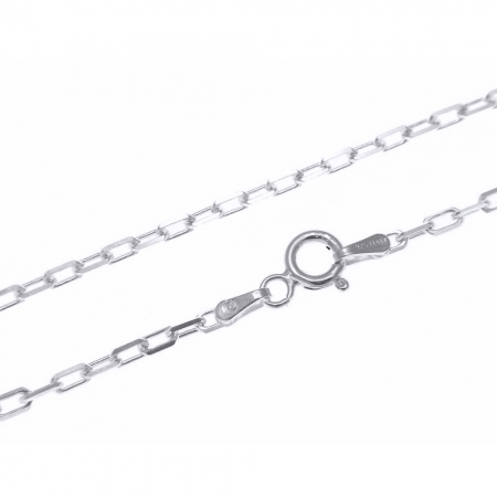 Lant de argint 925 cu zale dreptunghiulare 44 cm LAN01501