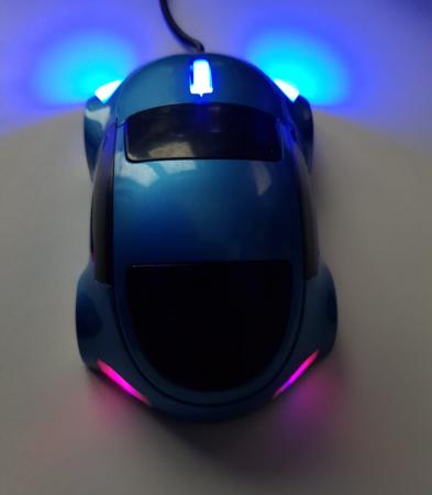 Mouse funny optic in forma de masinuta albastra3