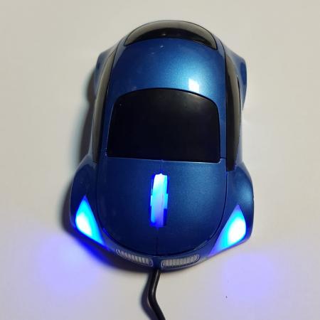 Mouse funny optic in forma de masinuta albastra