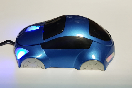 Mouse funny optic in forma de masinuta albastra4