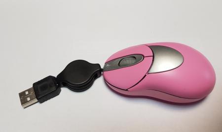 Mouse optic elegant roz cu mufa USB1
