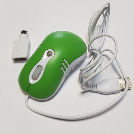 Mouse optic mini VERDE cu mufe USB si PS2