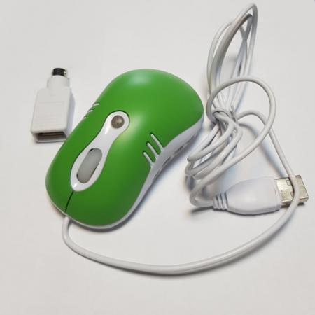 Mouse optic mini VERDE cu mufe USB si PS26