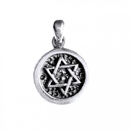 Pandant argint 925 cu Steaua lui David