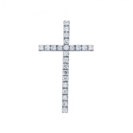 Pandant argint 925 rodiat in forma de cruce PSX06241