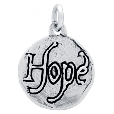 Pandant argint 925 cu doua fete porumbel si HOPE PSX06271