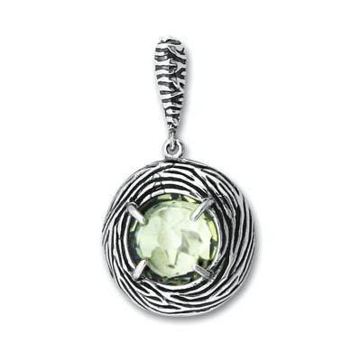 Pandant elegant argint 925 cu ametist verde