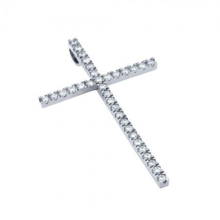 Pandant cruce mare din argint 925 rodiat PSX06210