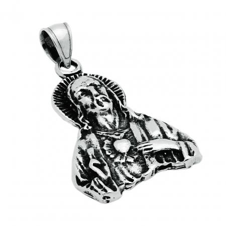 Pandantiv argint 925 inima sacra a lui Iusus PSX0700