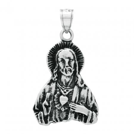 Pandantiv argint 925 inima sacra a lui Iusus PSX0700 [1]
