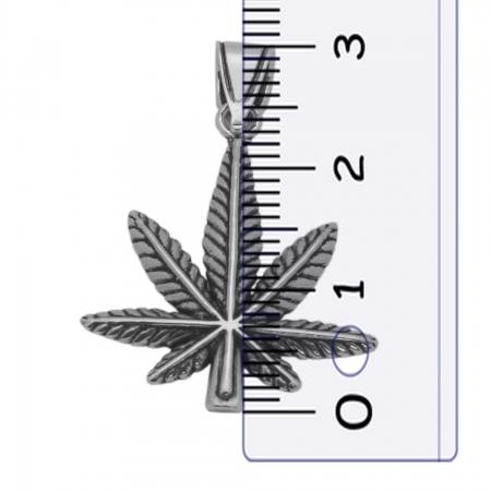 Pandantiv argint 925 oxidat frunza de marijuana PSX06291