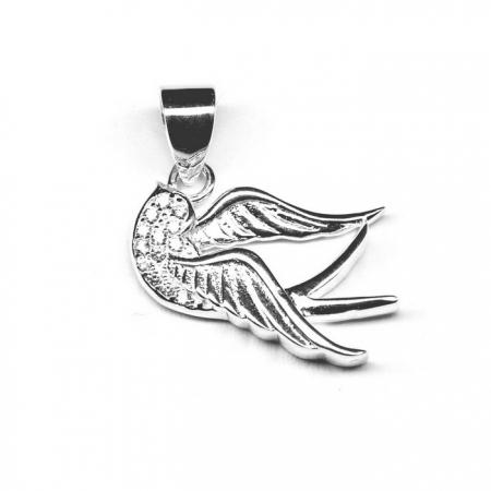 Pandantiv argint 925 porumbel cu zirconii PAN0531