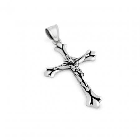 Pandantiv argint cruce cu rastignirea lui Isus PSX0353