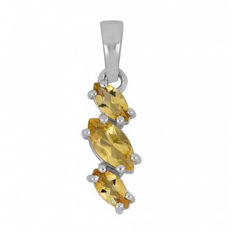 Pandantiv argint elegant cu citrine - PVA0022