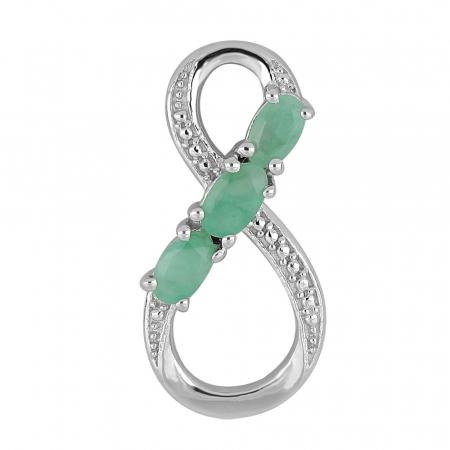 Pandantiv argint Infinity cu Emerald - PVA0010