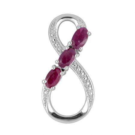 Pandantiv argint Infinity cu rubin - PVA0011