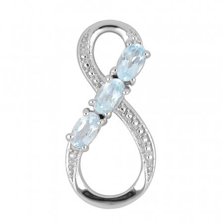 Pandantiv argint Infinity cu topaz - PVA0012