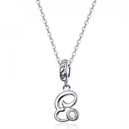 Pandantiv argint litera E cu zirconiu [2]