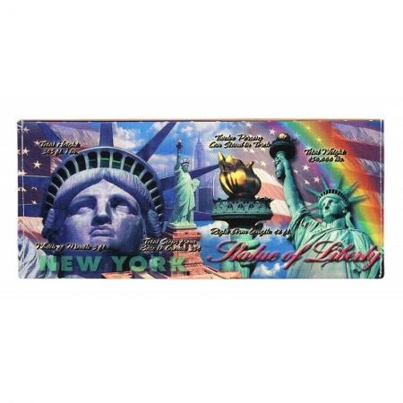 Portbancnota piele ecologica Statuia Libertatii - New York - PBA12
