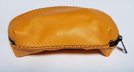 Portchei piele naturala Galben pentru chei lungi PCH72