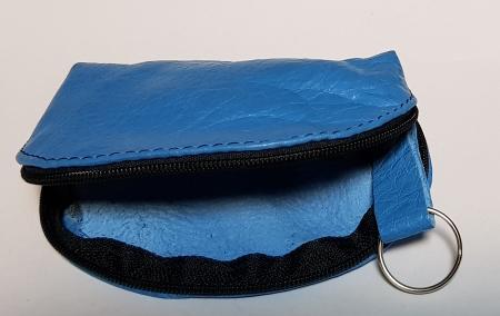 Portchei piele naturala Bleu pentru chei lungi PCH771