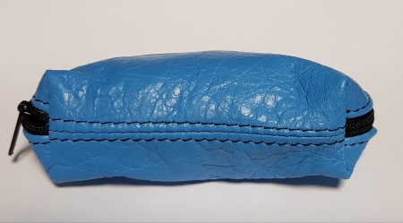 Portchei piele naturala Bleu pentru chei lungi PCH77