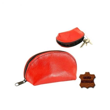 Portchei piele naturala Magenta pentru chei lungi PCH714