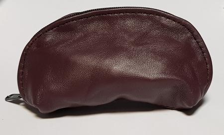 Portchei piele naturala Maron pentru chei lungi PCH70