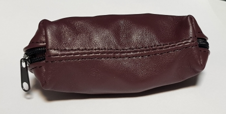Portchei piele naturala Maron pentru chei lungi PCH703