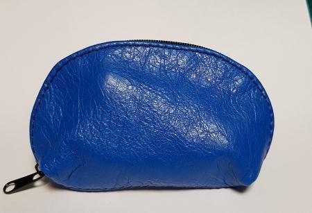 Portchei piele naturala Albastru pentru chei lungi PCH76
