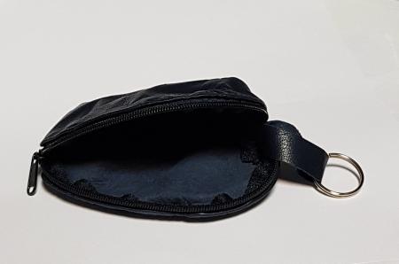 Portchei piele naturala Negru pentru chei lungi PCH682