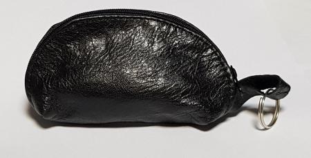Portchei piele naturala Negru pentru chei lungi PCH68