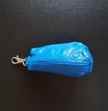 Portchei piele naturala PCH105 Albastru