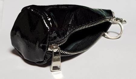 Portchei piele naturala Bordo (inchis) pentru chei lungi PCH623