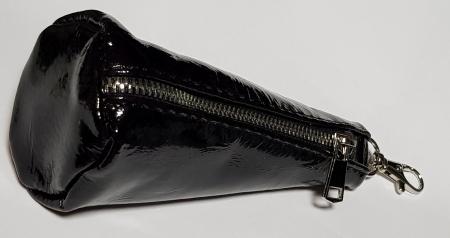 Portchei piele naturala Bordo (inchis) pentru chei lungi PCH624