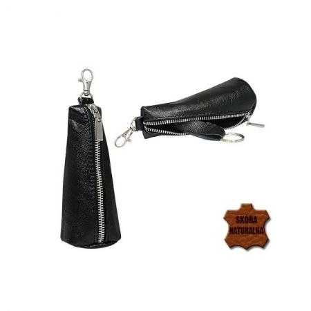 Portchei piele naturala Bordo (inchis) pentru chei lungi PCH625