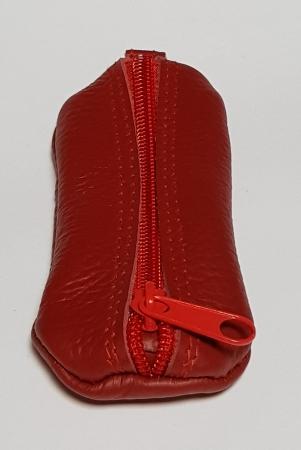 Portchei piele naturala Rosu pentru chei lungi PCH633