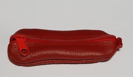 Portchei piele naturala Rosu pentru chei lungi PCH632