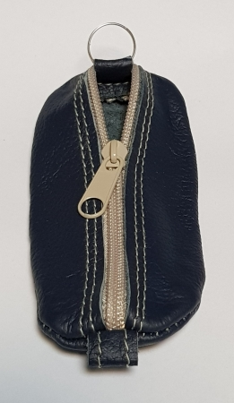 Portchei piele naturala Bleumarin pentru chei lungi PCH64